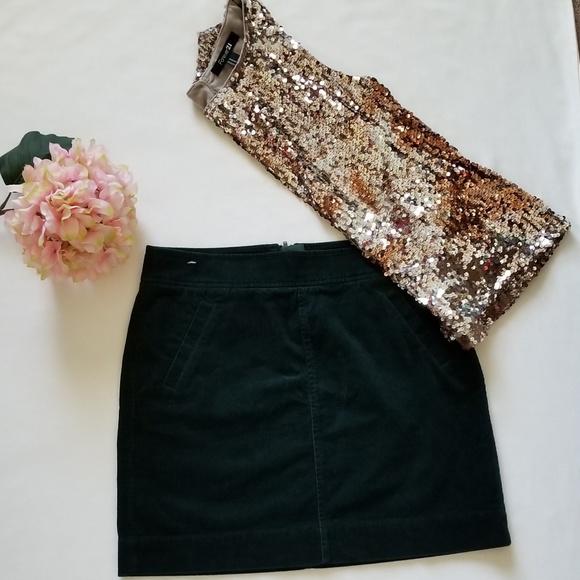 90eb88deed LOFT Dresses & Skirts - Loft emerald green corduroy mini skirt NWOT